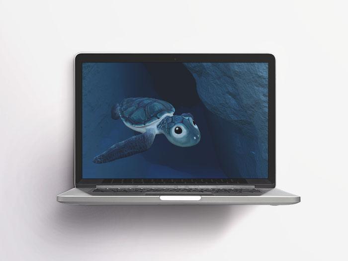 3D Meeresschildkröte