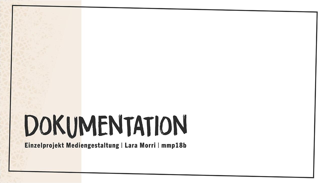 Dokumentation Titelblatt