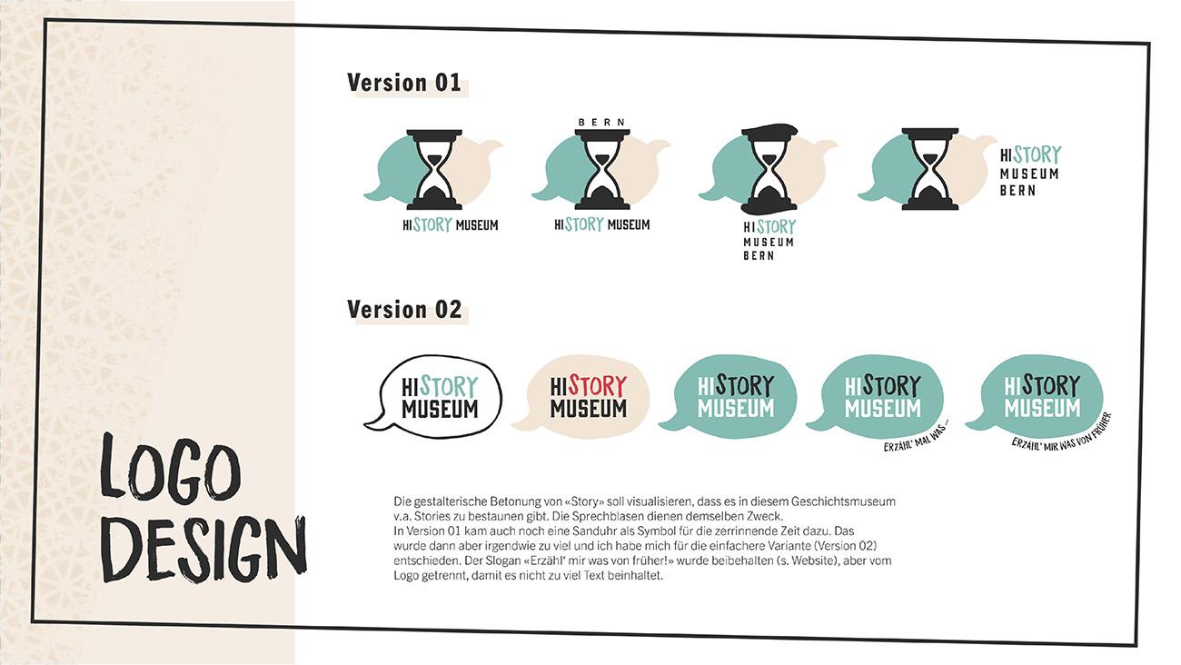 Dokumentation, Seite 3: Logodesign