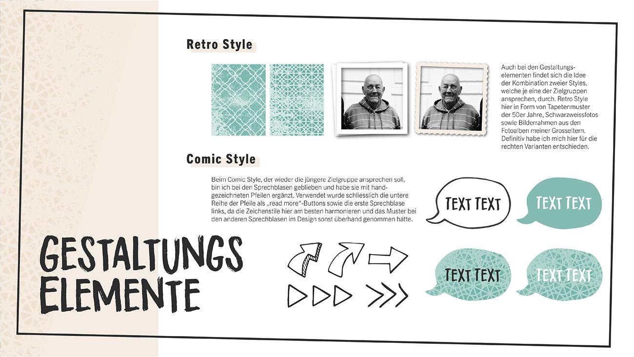 Dokumentation, Seite 5: Gestaltungselemente