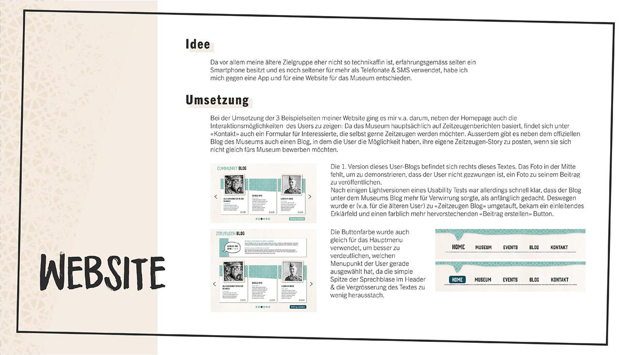 Dokumentation, Seite 6: Website Idee & Umsetzung