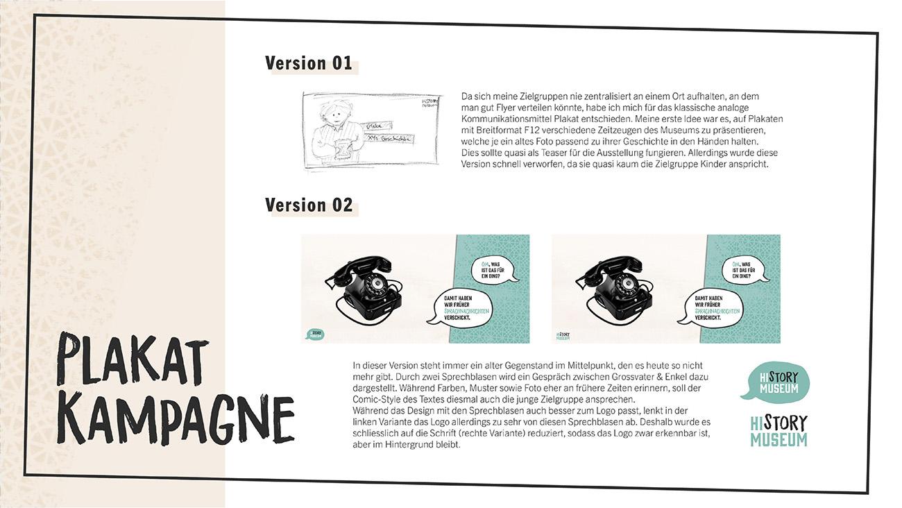 Dokumentation, Seite 8: Plakat-Kampagne, verschiedene Versionen