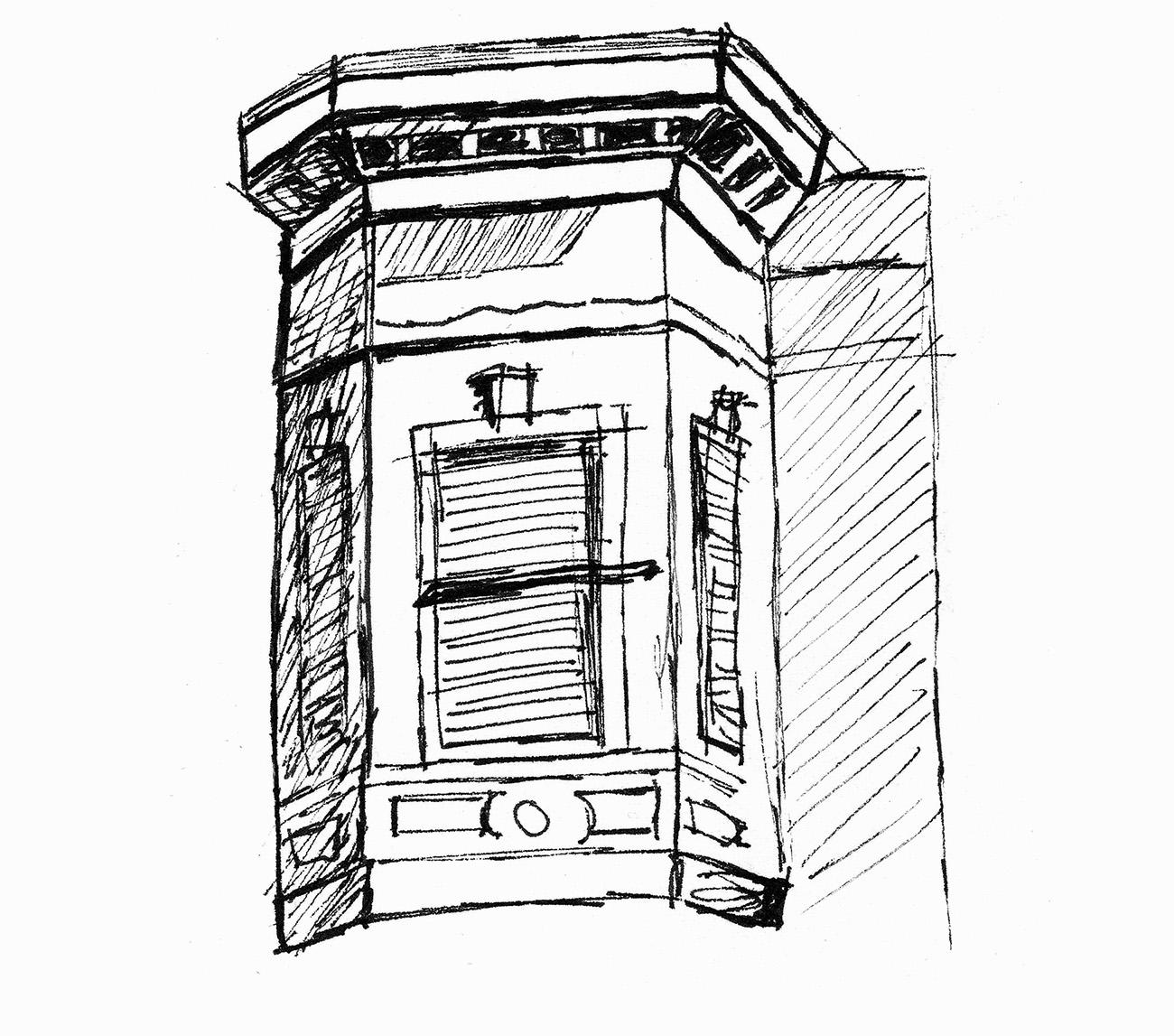 Skizze eines Fensters in der Altstadt