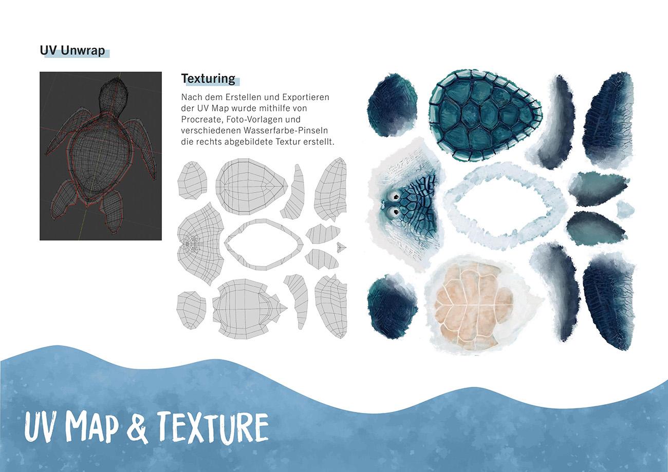 Dokumentation, Seite 6: UV Map & Texture